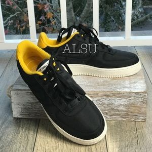 Nike Air Force 1 07 LUX Black Yellow W AUTHENTIC. NWT 6818096d9